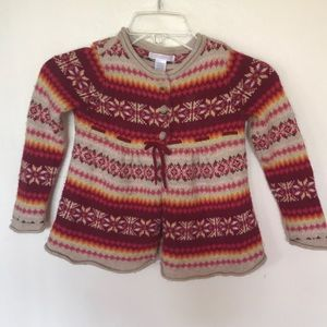 Janie and Jack Res Cardigan Sweater Pleated Print